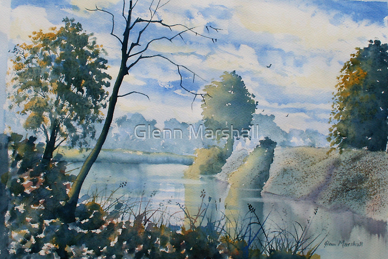 Round the Bend on the River Ouse by Glenn Marshall