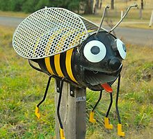 Mr Do Bee Mailbox by Penny Smith