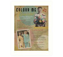 Colour Me Beautiful 1950s Print Ad Art Print