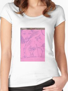 angry gods Women's Fitted Scoop T-Shirt