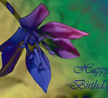 Floral happy Birthday card by sarnia2
