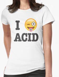 I Love Acid Womens Fitted T-Shirt