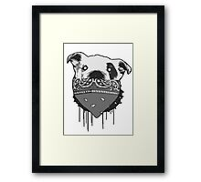 Some would say, make my day! (paint drip) Framed Print