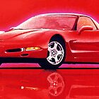 "97 ""Vette"" in Red by brianrolandart"