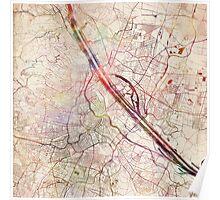 Vienna map Poster