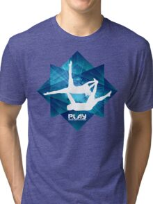 PLAY - Blue Octangle Tri-blend T-Shirt