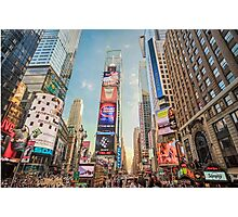 Times Square Hustle Photographic Print