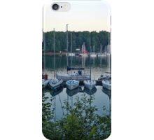 Amazing sunset in Solina Lake bay iPhone Case/Skin