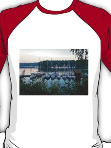 Amazing sunset in Solina Lake bay T-Shirt
