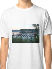 Amazing sunset in Solina Lake bay Classic T-Shirt