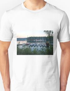 Amazing sunset in Solina Lake bay T-Shirt