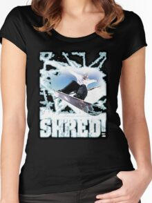 shred! Women's Fitted Scoop T-Shirt