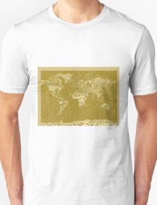 World Map landmarks 7 T-Shirt
