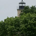 Top of the Light - Kenosha Southport Light  by eaglewatcher4
