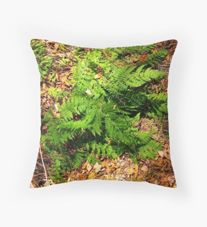 Green and Brown Throw Pillow
