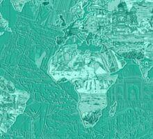World Map landmarks 7 Sticker