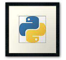 Python Logo Tile Print Framed Print