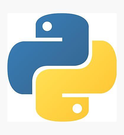 Python Logo Tile Print Photographic Print