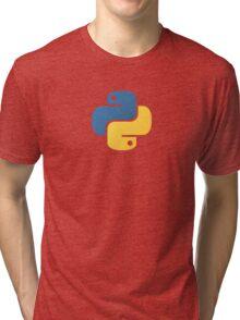 Python Logo Tile Print Tri-blend T-Shirt