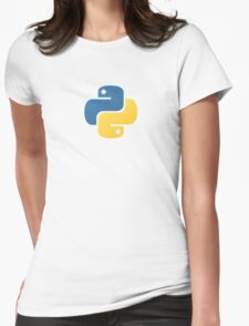 Python Logo Tile Print Womens Fitted T-Shirt