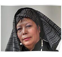 (591) Turban and shawl Poster