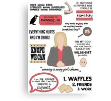 Knope Quotes Canvas Print
