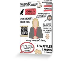 Knope Quotes Greeting Card