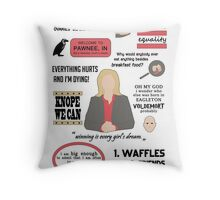 Knope Quotes Throw Pillow