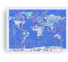 World Map landmarks 8 Canvas Print