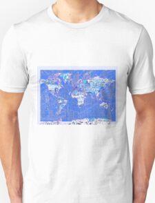 World Map landmarks 8 T-Shirt