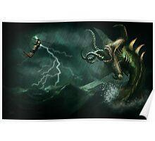 Beowulf vs the Jormungandr Poster