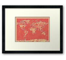 World Map landmarks 9 Framed Print