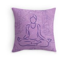 Violet Yoga Throw Pillow