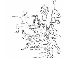 Yoga Asanas - drawing by XOOXOO