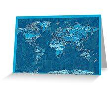 World Map landmarks 10 Greeting Card