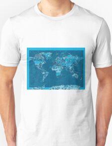 World Map landmarks 10 T-Shirt
