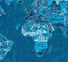World Map landmarks 10 Sticker