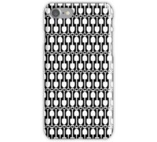 Black and White Shovels Pattern iPhone Case/Skin