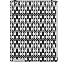 Black and White Shovels Pattern iPad Case/Skin