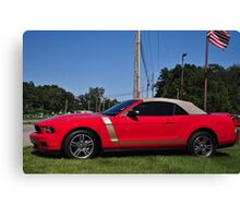 New Red Ford Mustang Canvas Print