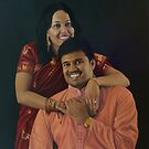 Mr and Mrs Arunachalam by marcelfineart