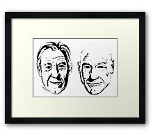 #Bestfriends - Portraits of Sir Ian McKellan and Sir Patrick Stewart Framed Print