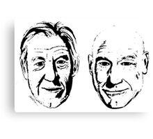 #Bestfriends - Portraits of Sir Ian McKellan and Sir Patrick Stewart Canvas Print