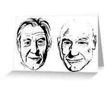 #Bestfriends - Portraits of Sir Ian McKellan and Sir Patrick Stewart Greeting Card