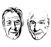 #Bestfriends - Portraits of Sir Ian McKellan and Sir Patrick Stewart Photographic Print