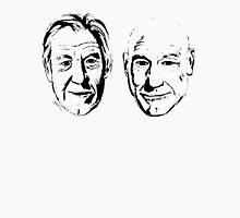 #Bestfriends - Portraits of Sir Ian McKellan and Sir Patrick Stewart Unisex T-Shirt