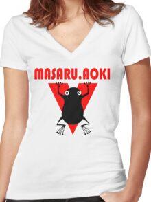 Hajime  No Ippo - Aoki Women's Fitted V-Neck T-Shirt