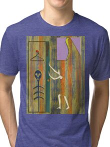 SKELETON IN THE CLOSET Tri-blend T-Shirt