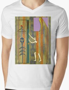 SKELETON IN THE CLOSET Mens V-Neck T-Shirt