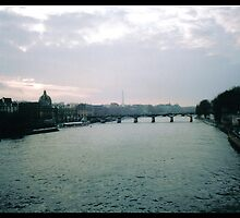 Paris at dusk by badkarma